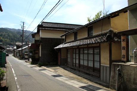 関宮の古い町並み